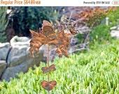 Brittney Spaniel Metal Garden Stake / Garden Art / Copper Dog / Angel Dog / Pet Memorial / Outdoor / Grave Marker / Handnmade /
