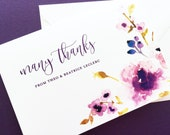 Thank You Cards - Thank You Note Cards - Wedding Thank You Cards - Purple Peonies Thank You Cards - Greeting Cards - Wedding Cards
