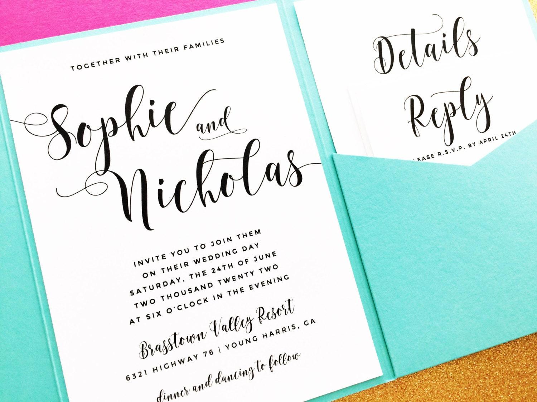 Wedding Invitation Pocket Fold: Pocketfold Wedding Invitation Pocket Fold Wedding Invitation