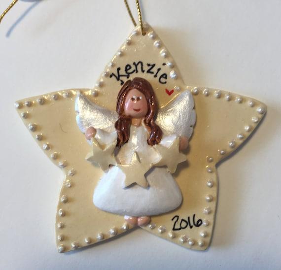 Baptism Ornament Cross Ornament Boy Baptism Ornament: Personalized Star Angel Ornament/ Angel / Heaven / Religious/