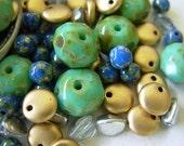 Assorted Czech Glass Bead Lot- Lentil, Pinch++ (#2GC)