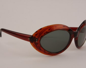 Vintage 60s Sunglasses France Designer Big Cats Eye Glamorous Hollywood Starlet Sunnies High Fashion