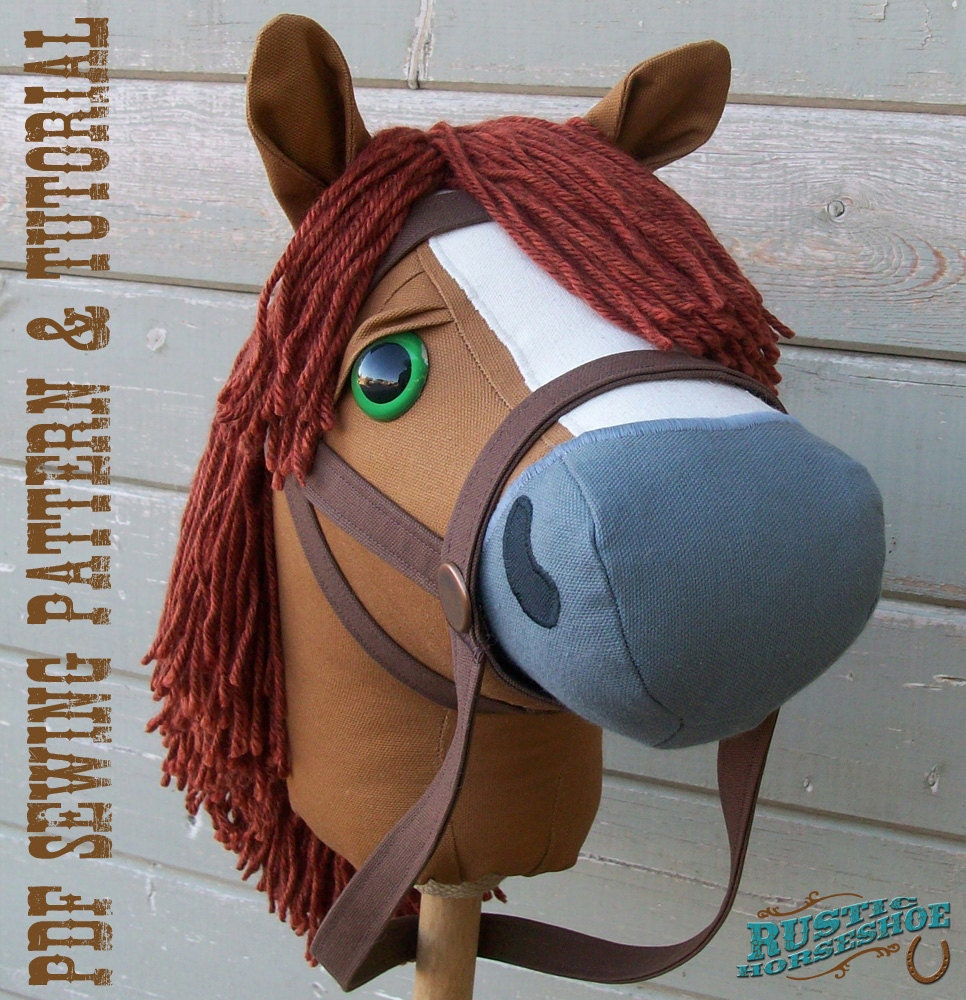 Stick Horse Sewing Pattern and Tutorial Rustic Horseshoe's ...