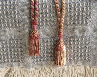 Vintage tassels  Drapery tiebacks