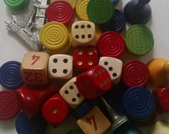 Vintage Game Pieces