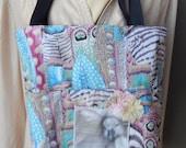 "Tote, ""Psalm 91"" Bible Bag, Handmade Tote,Scripture Tote, Fabric Handbag, Christian Bag,Fabric Tote,Jesus Bag,Shabby Chic Bible Bag,Plum Bag"