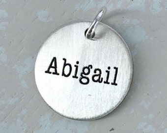 Sterling silver personalized name charm - Name Charm - Personalized Charm - Silver personalized charm - Personalized name charm - name charm