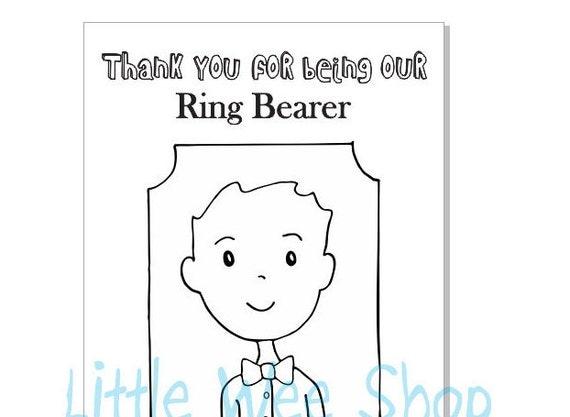 Custom Ring Bearer Book