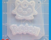 SALE Poke Friend and Poke Word  Plastic Handmade Resin Mold