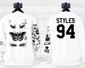 Harry Style Tattoos Sweatshirt Sweater Updated shirt – Size S M L XL