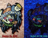 Brom The Barbarian the Zombie Hat Pin by Undead Ed Glows in the Dark