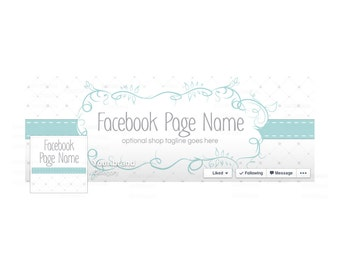SALE 30% OFF Timeline Cover and Profile Picture - Facebook Timeline Cover - Blue Facebook Cover - Social Media Cover - Graceful Isabella