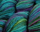 Hand Dyed Yarn - DYED To ORDER - DK Weight Superwash Merino Wool Singles Yarn - Aegean Multi - Knitting Yarn, Wool Yarn, Turquoise