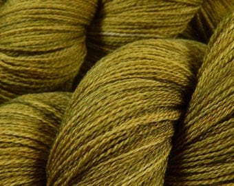 Hand Dyed Lace Yarn, Lace Weight Superwash Merino Wool Yarn - Olive Oil Tonal - Laceweight Knitting Yarn, Indie Dyed Tonal Yarn, DIY Gift