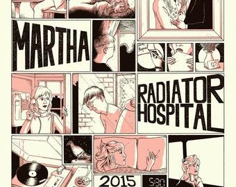 Martha / Radiator Hospital 2015 UK Tour Poster