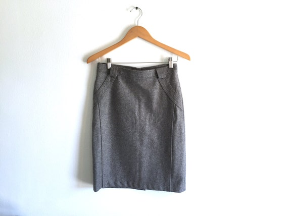 grey pencil skirt high waist grey felt pencil skirt high