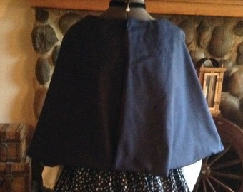 Civil War Victorian Pioneer Prairie Cape Capelet Dickens Handmade One Size