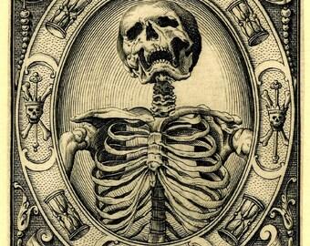 The Time of Death Notecard Halloween Handmade Vintage Image