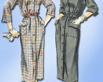 1950s Vintage Vogue Sewing Pattern 7215 Easy Uncut Misses Chemise Dress Size 12