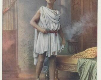 Hayden Coffin, The Greek Slave, Sandals, Toga, Victorian Theatre, American Actor Portrait, 1901 London Celebrities, Stage Photograph