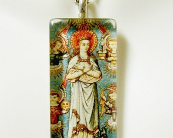 Immaculate conception pendant with chain - GP12-372