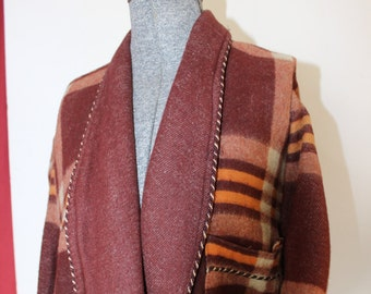 Beacon Blanket Robe Vintage Plaid Soft and Cozy Size Large VINTAGE by Plantdreaming