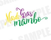 SVG DXF Commercial/Personal Use Mardi Gras Parade Carnival Mambo Silhouette Cameo