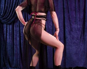 Sheer Little Egypt Panel Skirt
