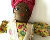 Vintage Black Mammy Kitchen Doll Black Americana Collectible
