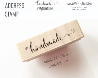 Calligraphy Handmade Stamp / Custom Stamp Return Address Stamp Rubber Stamps (check detail before ordering 10-14 DAYS processing for CUSTOM)