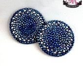 2-Color Variegated Round Rhinestone Nipple Pasties - SugarKitty Couture