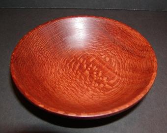 Exotic Leopardwood Turned Wood Bowl