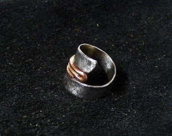 stainless steel and copper ring