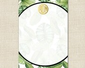 Custom Notepad - BANANA LEAF Collection by A Blissful Nest
