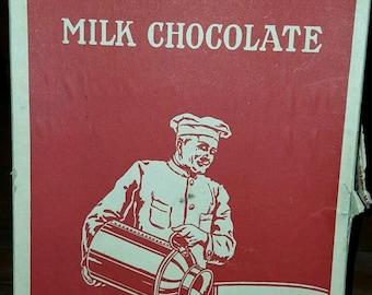 Vintage 5 Cent NESTLES Milk Chocolate Candy Bar Peter Cailler Kohler Display Box