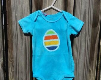 Easter Baby Bodysuit, Easter Egg Bodysuit, Easter Baby Shirt, Easter Baby Boy, Easter Baby Girl, Baby's First Easter (12 months)