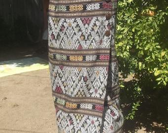 Vintage Maxi Skirt, Embroidered Maxi Skirt, Hippie Wrap Skirt, Bohemian Skirt, Wrap Around Skirt, Gypsy Skirt, Ethnic Long Skirt S