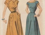 Advance 5113 / Vintage 1940s Sewing Pattern / Dress / Size 16 Bust 34