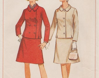 Vintage 60s Sewing Pattern / Simplicity 7321 / Skirt Jacket Suit / Bust 39