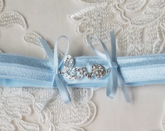Wedding Toss Garter, Something Blue Garter, Love Garter