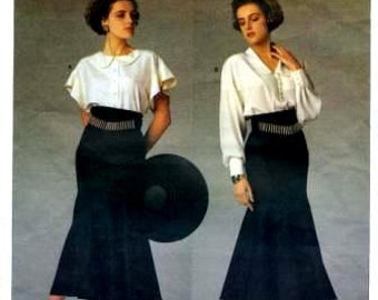 Vogue 1900 Karl Lagerfeld blouse and yoked skirt with gores and godets CUT