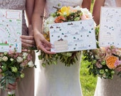 Custom Chic Wedding Map with Itinerary -- Napa Valley, California (choose your location)