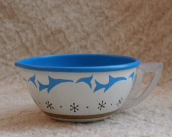Ohio Art Tin Creamer for a Child's Toy Tea Set, Blue and White and Tiny with Stars