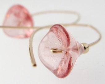 Linnea (Twinflowers) - minimalist flower earrings