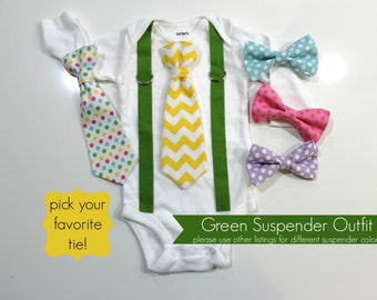 Boys Easter Shirt. First Easter. Baby Easter Clothes. Toddler Boy Easter Shirt. Easter Bow tie and suspenders bodysuit.