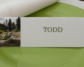 Colorado Wilderness Place Cards/ Seating Cards/ Food Tents-  Set of 6- Party Table Decoration