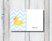 DUCKY DESIGN THANKYOU Card, Instant Download Thank you Card, 1st Birthday, Baby Shower, Cute, Rubber Duck, 6x4, Baby