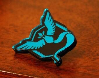 Handmade Acrylic Team Mystic Pokemon Go Badge Pin