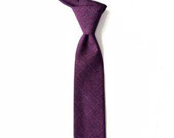 Miles - Eggplant Purple Men's Tie