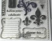 Celebration Stamps D1495 Close To My Heart CTMH Used